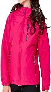 Sceliny 屋外旅行女性ジャケット2ピース登山スーツ防風防水 (色 : ローズレッド, サイズ : XXL)