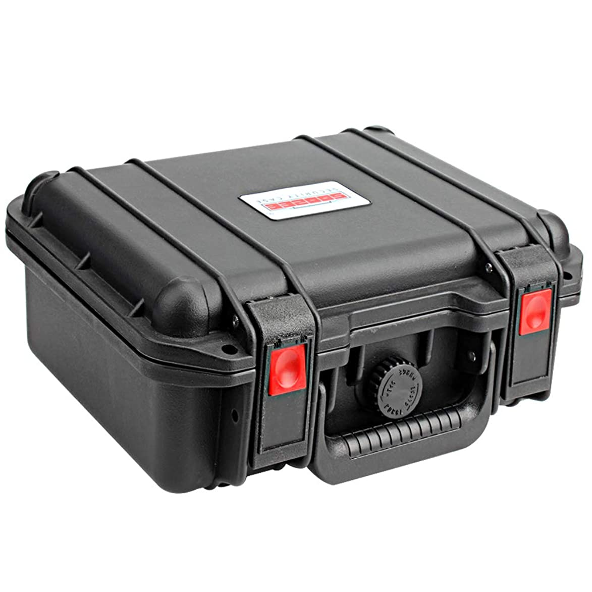 Soozee 1100 Case with Foam (Black)- Hard Pistol Case for Compact and subcompact Guns, and Other Device Like Gopro, Label Makers, Mirrorless Camera, DJI Spark, Cozmo