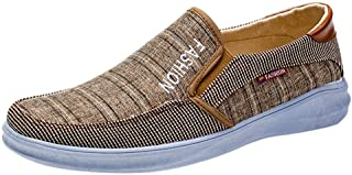 Men Summer Flats Casual Shoes, Male Outdoor Mesh Breathable Flats Sneaker Slip-On Shoes
