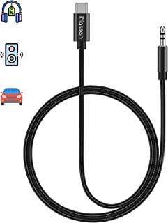 USB C to 3.5mm Aux Jack Cable, iNassen Type C Adapter to 3.5mm Audio Headphone Stereo aux Cord for USB c Car Compatible with Samsung Galaxy S20+ Note 10+, Car Stereos, Speaker, Headphones and More