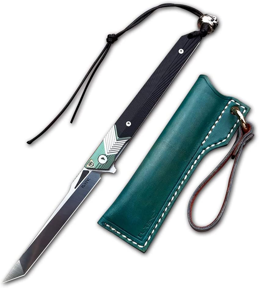 TURENZ Today's only Folding Pocket Knife with Sandvik Sheath 14C Max 72% OFF Handle G10