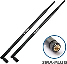 TECHTOO 9dBi WiFi Antenna with SMA Male (SMA-Plug) Connector Compatible W/Anran Haloview IP Camera & Other Wireless Security Camera Antenna - 2.4Ghz Wireless Networking Device