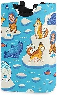 Panier à linge Panier à linge Pôle Nord Art inuit sans couture Grand panier à linge pliable Panier à linge robuste 11 X 12...