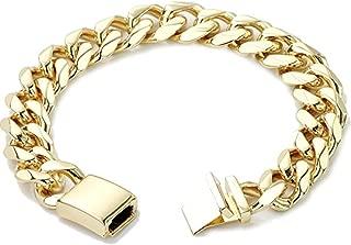 18K Gold Cuban Link Bracelet 9MM Round Solid Fashion Jewelry 24K Gold Filled Miami Cuban Link Diamond Cut