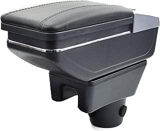 8X-SPEED for Mitsubishi Attrage Mirage 2015-2018 Car Armrest Accessories Centre Console Storage Box Arm Rest Black