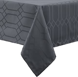 Benson Mills Chagall Spillproof Tablecloth,Charcoal,60 X 140