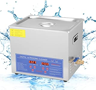 10L Commercial Ultrasonic Cleaner, Professional Digital Large Capacity Stainless Steel Sonic Cleaner with Heater and Baske...