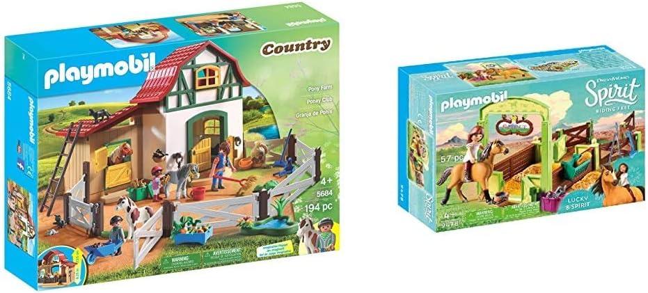 9cm white pillar box pony 4190 Centre Equestre t2182 Playmobil