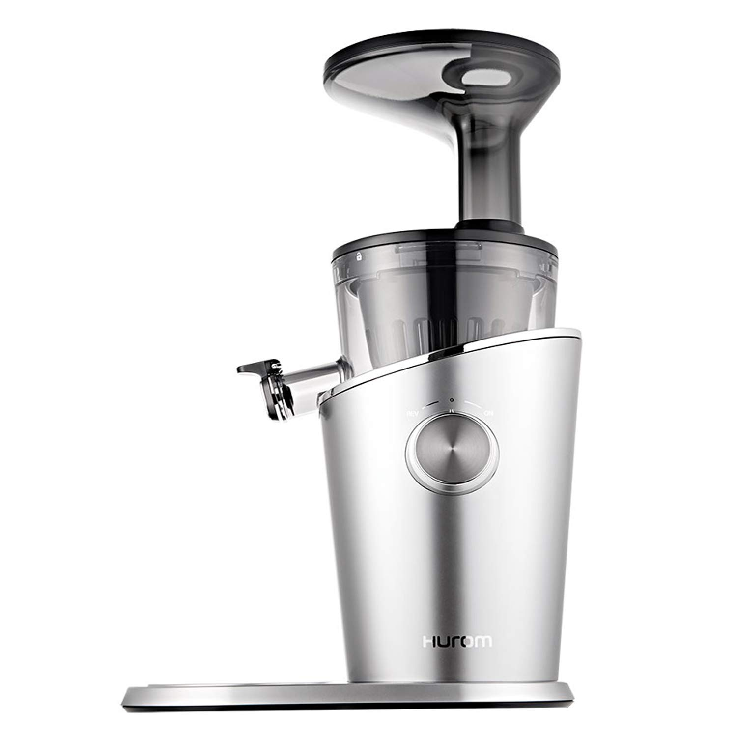 Hurom H-100 Cold Press Slow Juicer Series, 43 RPM, 150 Watts Energy Efficient Motor, all-new 100% Rust-Free Strainers For Fast And Thorough Cleaning, Patented Pulp Adjustor (Titanium Grey)
