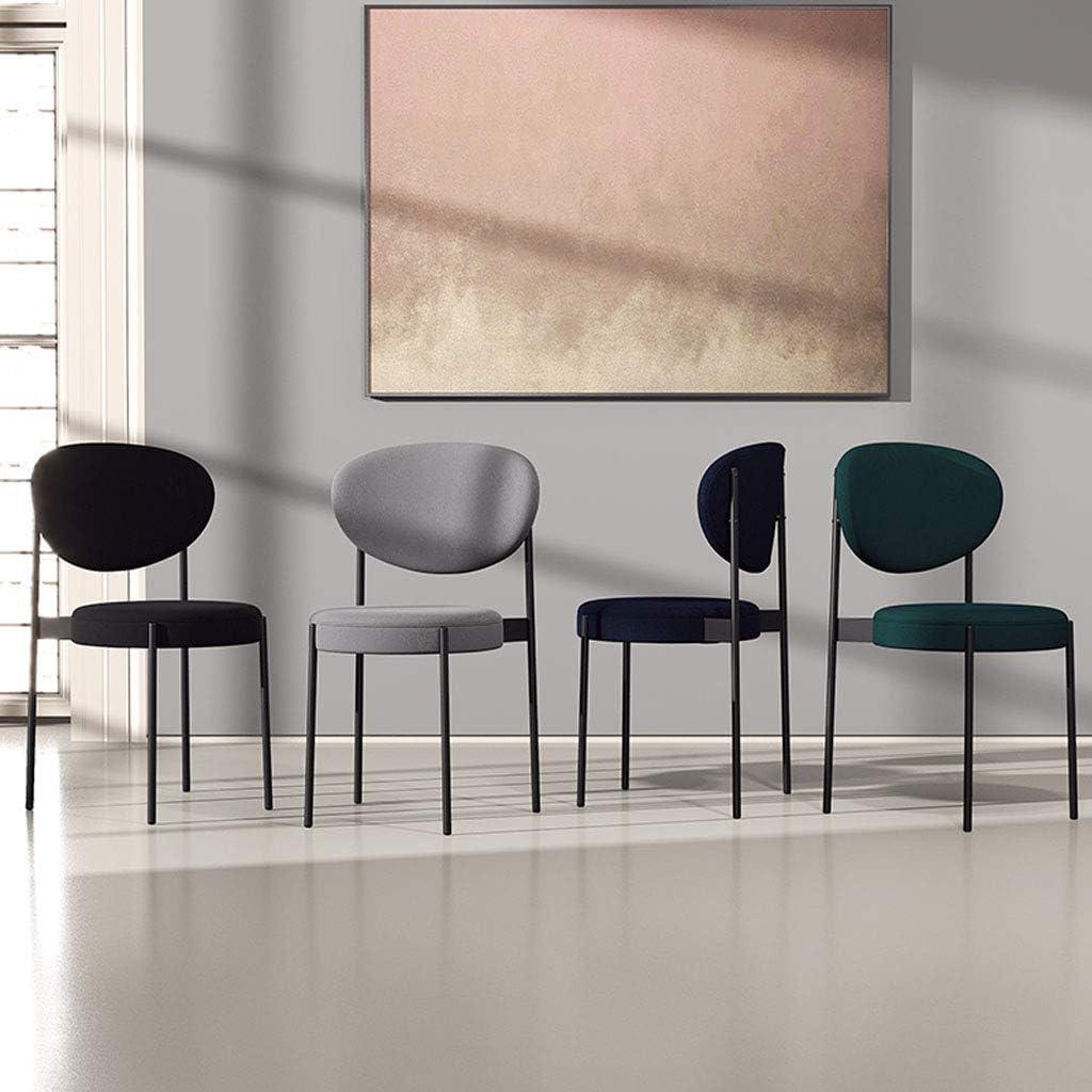 Amrai Chaises de Salle à Manger, Chaises d'appoint rembourrées avec des Pieds en métal pour Le Salon, en Cuir de Loisirs, en Similicuir Moderne [6 Couleurs] Blue