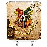 AMFD Duschvorhang Classic Film Harry Potter Wizarding Schule Logo Einzigartiges Design 177,8x 177,8cm Wasserdicht Polyester-Schimmel-Badezimmer Enthalten Haken Modern 70 x 70 inches Multi 4102