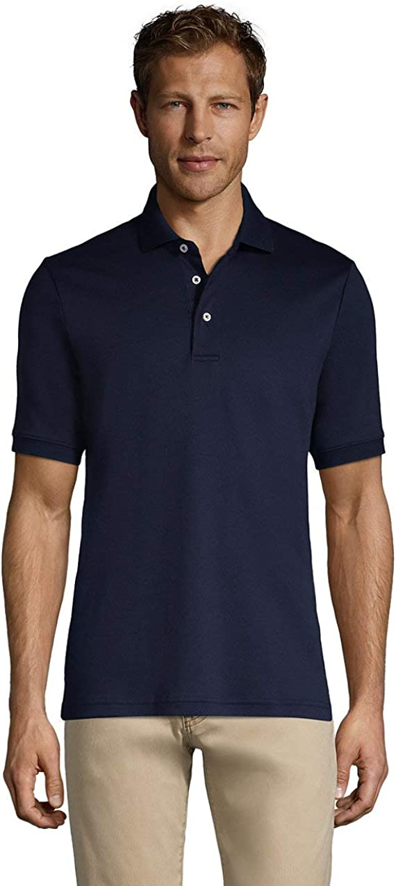 Lands End Mens Short Sleeve Super Soft Supima Polo Shirt