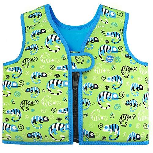 Splash About Kinder Schwimmhilfe Jacke, Grün (Green Gecko), Gr. 1-2 Jahre