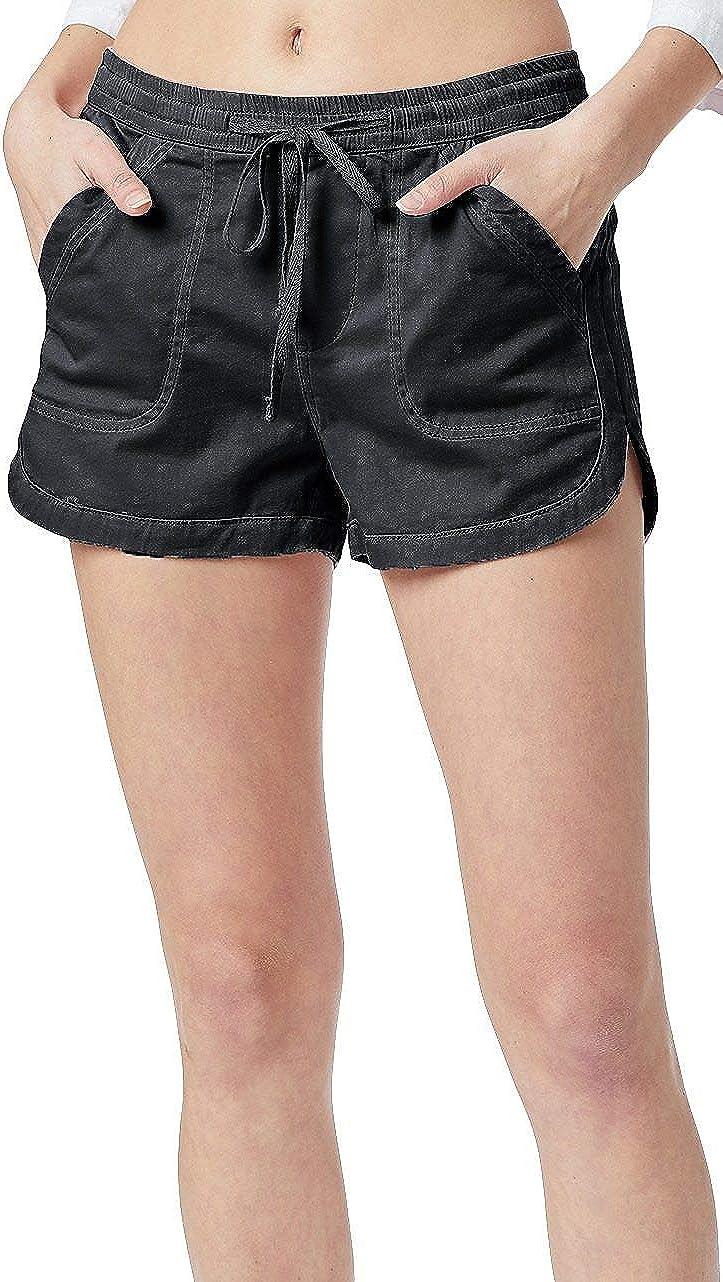 UNIONBAY Women's Drawcord Pull-on Soft Sateen Short