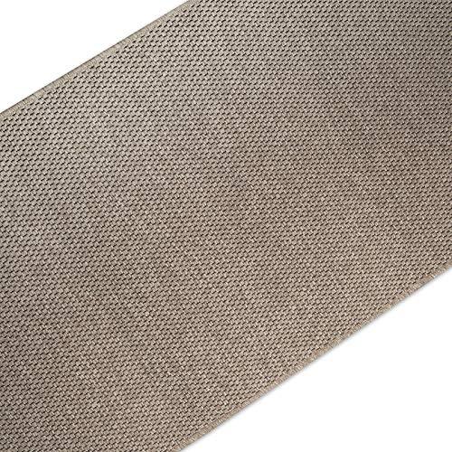casa pura Teppich Läufer in Sisal Optik | Flachgewebe mit Tiger-Eye-Struktur | ausgezeichnet mit GUT-Siegel | kombinierbar mit Stufenmatten (Taupe, 240x1000 cm)
