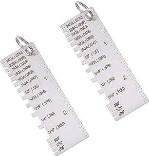 ULTECHNOVO Medidor de Espessura Portátil de 2 Peças de Chapa de Aço Inoxidável Medindo Medidor de Espessura de Fio