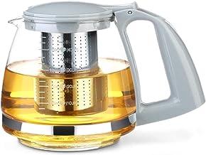 Żeliwne szkło zestaw do herbaty Kung Fu zagęszczanie szkło odporne na wysoką temperaturę z zaparzaczem ze stali nierdzewne...