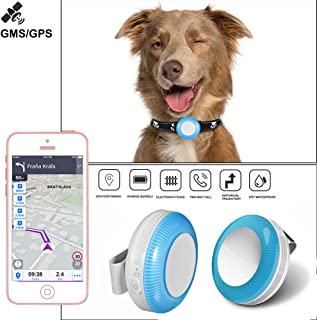 Pet GPS Tracker, Real-Time Tracking Device for Dogs/Cats IP65 GPS Locator Waterproof Anti-Lost Pet Tracker Collar with Fre... photo