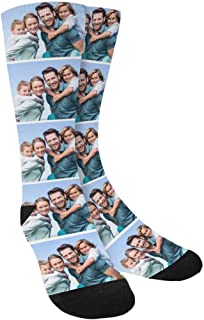 Custom Personalized Family Photo Crew Socks for Men Women-Upload Your Unique Memorable Family Picture