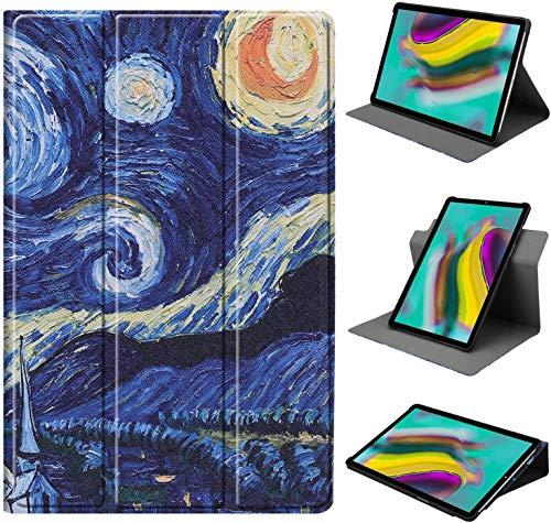 HoYiXi Funda de Soporte Giratorio para Samsung Galaxy Tab A7 10.4-Inch Rotación de 360 Grados Funda Smart Cover para Samsung Galaxy Tab A7 10.4 2020 T500/T505 - Noche Estrellada