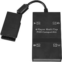 Multitap para adaptador de controle PS2, adaptador de jogo multiplayer multi-toque para Playstation PS2 com 4 plugues 4 jo...