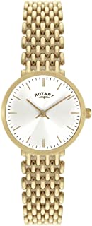 Rotary Ladies Gold Plated Stainless Steel Watch with White Dial