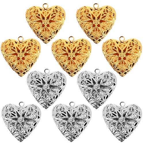 ABOOFAN 10 Unids Marco de Fotos Collar Colgantes en Forma de Corazón Collar de Regalo Joyería Día de San Valentín Regalo del Banquete de Boda Despedida de Soltera