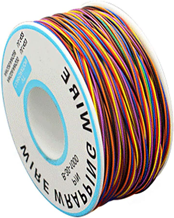 Cable de prueba de aislamiento de alambre de 250 m 30 AWG de cobre esta/ñado cable el/éctrico para port/átil de prueba electr/ónica de alambre de envoltura