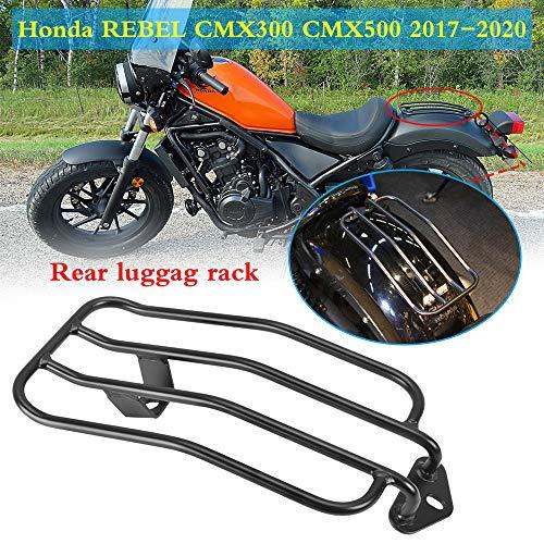 Lorababer Motorrad hinten Solo Sitzgepäckträger Gepäckträger Stahl Standard Heckkotflügelhalterung für Honda Rebel CMX 300 500 CMX500 2017 2018 2019 2020