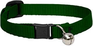 Lupine Cat Collar Basics with Bell, 1/2 inch, Green