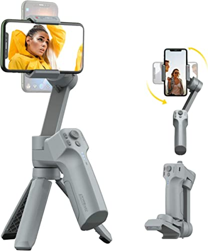 MOZA MINI MX Gimbal Handheld Stabilizer for Smartphone Small Palm Size Support iOS&Android Max Payload 9.9OZ for Vlog...