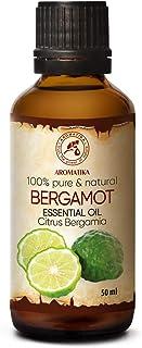 Huile Essentielle de Bergamote 50ml - Citron Bergamia - Aromathérapie - Bergamote 100% Pure pour Soins de la Peau et des C...