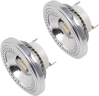 DASKOO - Juego de 2 bombillas halógenas (G53 AR111, 2 COB de 15 W, recambio para lámparas halógenas de 120 W, blanco neutro, 4000 K, AC 85-265 V)