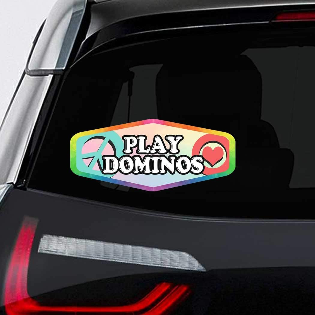 excellence Makoroni Peace Love Play Dominos Bumper Tulsa Mall Magnet-Magnetic CAR Sti