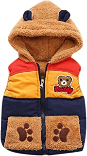 Warm&Soft,Baby Bear Warm Vest Unisex Infant Toddler Padded Waistcoat Outdoor