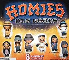 Homies Zombies ~ Complete Set of 8 Featuring Chuco, Pelon, Big Loco, Bouncy, Smily, Hollywood, Eightball and Smiley. Approximately 2 inches tall figurines Great collectibles for party gatherings , surprises and goody bags.