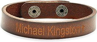 Free Engraving - Genuine Brown Leather Bracelet