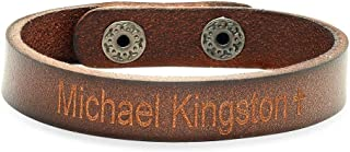 Best cheap leather engraved bracelets Reviews