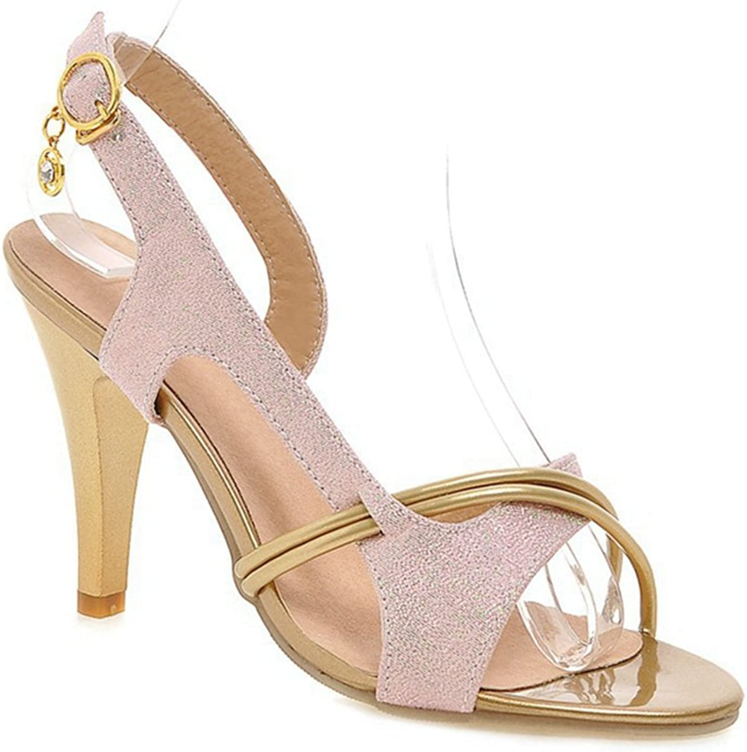 GIY Women Stiletto Sandals Pointed Cross Strappy Slingback High Heels Open Toe Wedding Party shoes