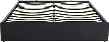 PEGANE Lit Coffre Adulte Coloris Noir - 140 x 190 cm