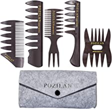 5 PCS Hair Comb Styling Set Barber Hairstylist Accessories - Professional Shaping & Teasing Wet Combs Tools with Packaging...