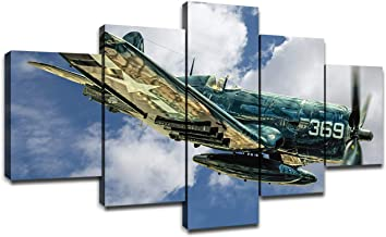 Vintage Airplane 6 Ceramic Hanging Decorative Plate,Airplane in Dramatic Cloudy Skies Aviation Flyby Obsolete Composition Print Decorative Dinner Plate Ceramic Ornament for Home/&Office Wall Decors