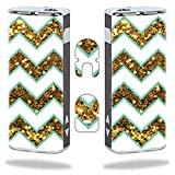 MightySkins Skin Compatible with Eleaf iStick 20W – Glitzy Chevron | Protective, Durable, and Unique Vinyl Decal wrap Cover | Easy to Apply, Remove, and Change Styles | Made in The USA