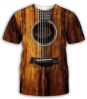 Buyaole Camisetas Hombre Originales Divertidas,Camisetas Hombre Frikis,Moda para Hombre Guitarra Divertida Camiseta Impres...