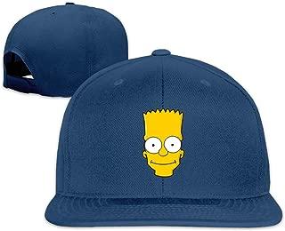 Bart Simpson Flat-Brimmed Baseball Cap Trucker Hat