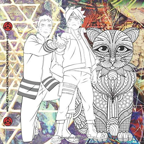 Naruto Art X Mandala Animals Coloring Book for Grown-ups: NEW 2020 VERSION Art Coloring book for kids and adults