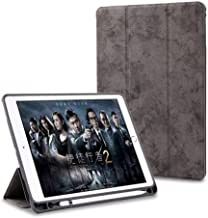 "ProElite PU Smart Flip Case Cover for Apple iPad Air 3 10.5"" with Pencil Holder, Grey"