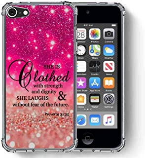 for iPod Touch 7 Case, iPod Touch 6/iPod Touch 5/iPod Touch 2019 Case, SuperbBeast [Proverbs 31:25 She is Clothed in Stren...