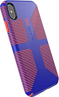 Speck Products CandyShell Grip iPhone Xs Max Case, Cyber Blue/Grapefruit Orange
