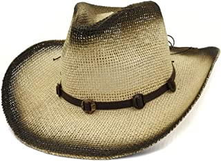 Sun Hat for men and women Women Men Outdoor Beach Hat Visor Western Cowboy Hat Button Decoration Narrow Belt National Wind Straw Sun Hat Sunbonnet